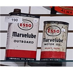 ESSO MARVELUBE OUTBOARD AND MOTOR OIL QUART