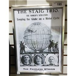 FRAMED STAGG TRIO ADVERTISEMENT