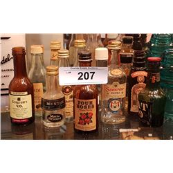 12 VINTAGE MINI LIQUOR BOTTLES