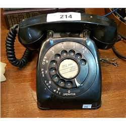 VINTAGE BAKE-LIGHT ROTARY TELEPHONE