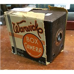 VINTAGE WARWICK BOX CAMERA WITH ORIGINAL BOX