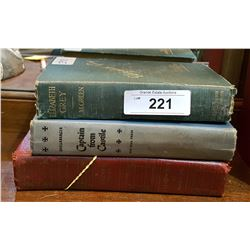 3 ANTIQUE BOOKS