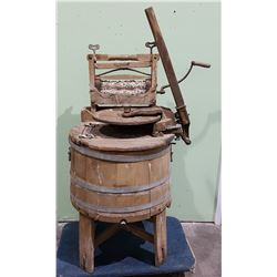 ANTIQUE WOOD RINGER WASHER