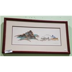 FRAMED LIMITED EDITION ESKIMO PRINT SIGN