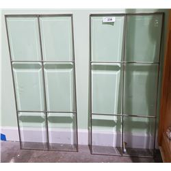 2 VINTAGE LEADED GLASS WINDOWS