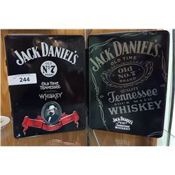 2 JACK DANIELS WHISKEY COLLECTOR TINS