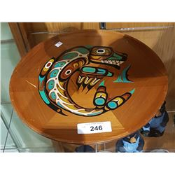 NATIVE PAINTED WOOD TRAY