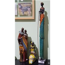 3 AFRICAN STATUES
