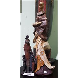 2 AFRICAN STATUES