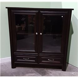 QUALITY DARK MAHOGANY DISPLAY CABINET