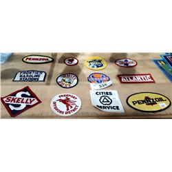 12 VINTAGE COLLECTIBLE OIL AND GAS PATCHES
