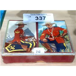 2 VINTAGE DECKS OF RCMP PLAYING CARDS IN CASE