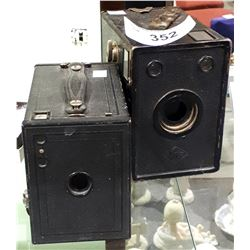 2 ANTIQUE BOX CAMERAS
