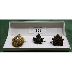 3 ROYAL CANADIAN AIR FORCE CAP BADGES