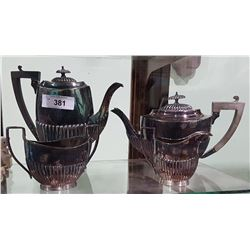 4 PIECE SHEFFIELD ART DECO SILVER PLATE TEA SET