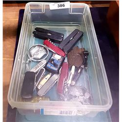 COLLECTION OF POCKET KNIVES, LIGHTERS AND MULTIPURPOSE TOOLS