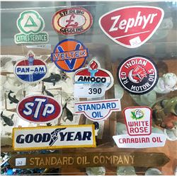 12 VINTAGE OIL AND GAS PATCHES