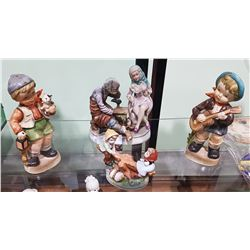 4 VINTAGE PORCELAIN FIGURINES