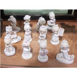 12 PRECIOUS MOMENTS FIGURINES