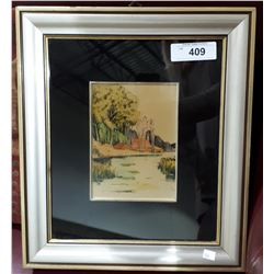 FRAMED PAINTING ON STERLING SILVER