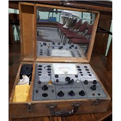 VINTAGE MERCURY MODEL 300 COMBINATION TESTER IN DOVE TAIL WOOD BOX
