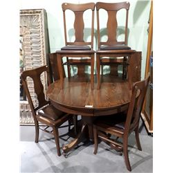 7 PIECE ANTIQUE OAK DINING SET