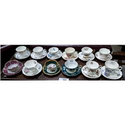 12 CHINA TEA CUPS AND SAUCERS