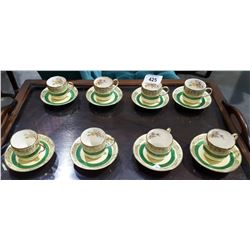 SET OF 8 JOHNSON BROTHERS DEMI TASSE CUPS AND SAUCERS