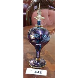 HAND PAINTED ART GLASS PERFUME BOTTLE