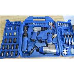 AIR TOOL SET ( 3/8 TO 1/2 INCH DRIVE, AIR CHISEL AND ACCESSORIES)