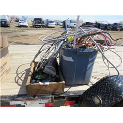 LOT OF ELECTRICAL AND PLUMBING ITEMS ( WIRE, PLUMBING ACCESSORIES, ETC... )