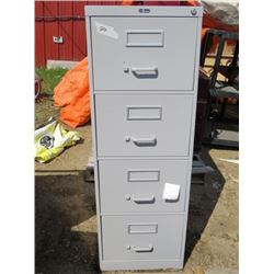 LOT OF 3 FILING CABINETS ( 4 DOORS) *3 WITH ROLLER BASES*