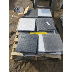 PALLET OF INTERLOCKING PLASTIC SHOP FLOORING