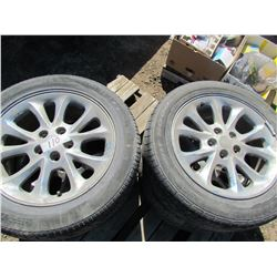 LOT OF 4 TIRES AND RIMS (225-55-17) *5 BOLT*