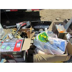 LOT OF ASSORTED ITEMS (PAINTING, PLUMBING, CAULKING ETC)