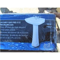 PEDESTAL SINK ( 2 PIECE) *NEW*