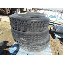 LOT OF 3 TIRES (GOODYEAR) *295-75R-22.5*