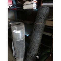 ASSORTED LOT INCLUDES (1 ROLL OF CHICKEN WIRE) *1 ROLL OF ROLL ON ROOFING*