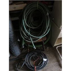 ASSORTED LOT INCLUDES (1 HIGH PRESSURE HOSE AND WAND) *1 GARDEN HOSE*