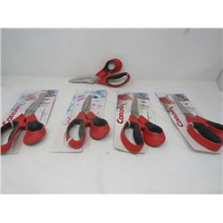 LOT OF 5 PAIRS OF CORONA FLORAL SHEARS (NEW)