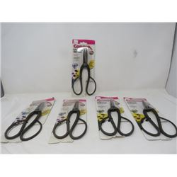 LOT OF 5 PAIRS OF CORONA GARDEN SHEARS (NEW)