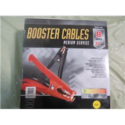 BOOSTER CABLES (NEW) *8 GAUGE* (12')