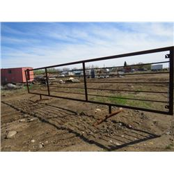 24 FOOT CORRAL PANEL (FREE STANDING) *SUCKER RED* (WELL BUILT)