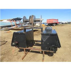 PORTABLE TRUCK WELDING BOX (COMPLETE WITH REELS AND TWO TOOL BOXES)