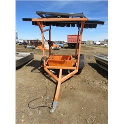 CONSTRUCTION SIGN ON WHEELS ( BENT AXLE)