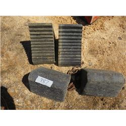 LOT OF 4 RUBBER TIRE STOPS