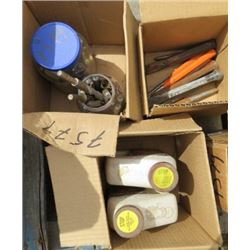 LOT OF MISC TOOLS (PUNCHES, CHISELS, DRILL BITS, ETC)