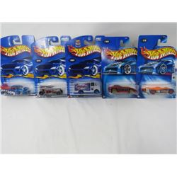 LOT OF 5 HOTWHEEL VEHICLES (SUPER TUNED, FLYING ACES 2 5/5, TRACK ACES, CARBORATED CRUISERS 5/5, SPE