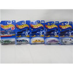 LOT OF 5 HOTWHEEL VEHICLES (DODGE CHARGER, DAYTONA 1970, PURPLE PASSION, TOW JAM, 79 FORD, MONTEZOOM