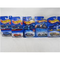 LOT OF 5 HOTWHEEL VEHICLES (JEPSTER, CAT-A-PULT, 1932 FORD, TOONED SPLITTING IMAGE, DODEG TOMAHAWK)
